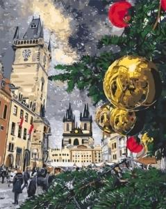 Картины по номерам Рождественские каникулы