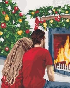 Картины по номерам Рождественская романтика