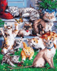 Картины по номерам Домашние котики