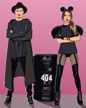 Картины по номерам ВРЕМЯ И СТЕКЛО 404