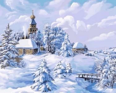 Картины по номерам Середина зимы