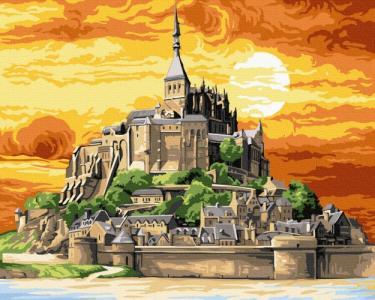 Картины по номерам Замок на горе