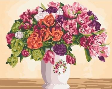 Картины по номерам Пышные тюльпаны