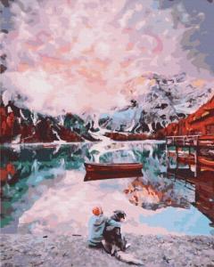 Картины по номерам Друзья на озере
