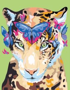 Картины по номерам Jaguar and butterflies