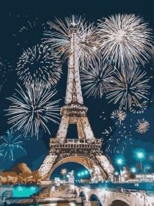 Картины по номерам Огни Парижа