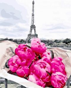 Картины по номерам Пионы в Париже