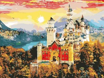 Картины по номерам Осенний замок