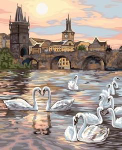 Картины по номерам Лебеди Праги