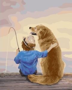 Картины по номерам На рыбалке