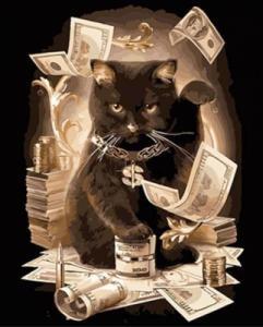 Картины по номерам Зажиточный кот
