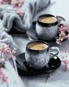 Картины по номерам Кашемировый кофе