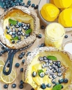 Картины по номерам Ягодный завтрак
