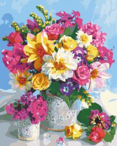Картины по номерам Цветочная радуга