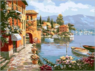Картины по номерам Морской городок