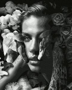 Картины по номерам Женщина с лебедями