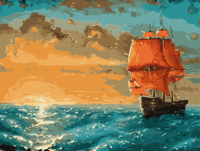 Картины по номерам Алые паруса
