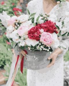 Картины по номерам Цветы в подарок