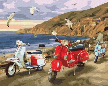 Картины по номерам Лето на побережье