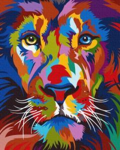 Картины по номерам Яркий портрет льва