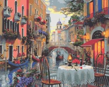 Картины по номерам Вечер полный романтики
