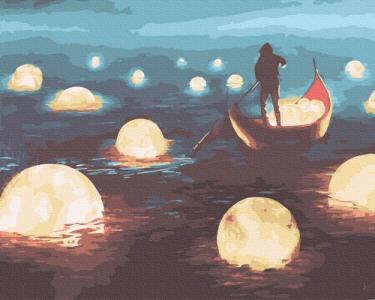 Картины по номерам Лунная прогулка
