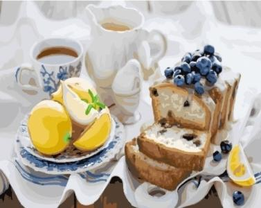 Картины по номерам Кекс к чаю