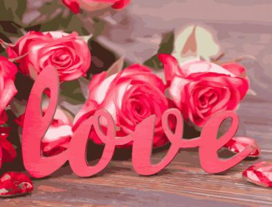 Картины по номерам Розы любви