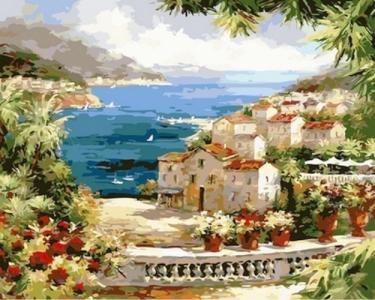 Картины по номерам Веранда с видом на океан
