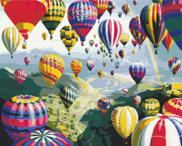 Картины по номерам Разноцветные шары