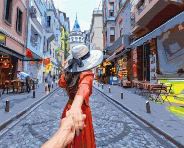 Картины по номерам Путешественница на прогулке