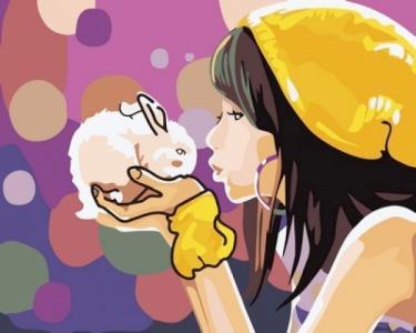 Картины по номерам Девочка с кроликом