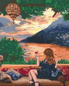 Картины по номерам Любуясь закатом
