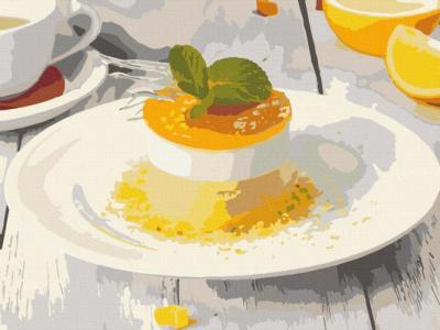 Картины по номерам Апельсиновый десерт