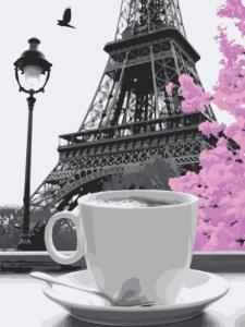 Картины по номерам Кофе в Париже
