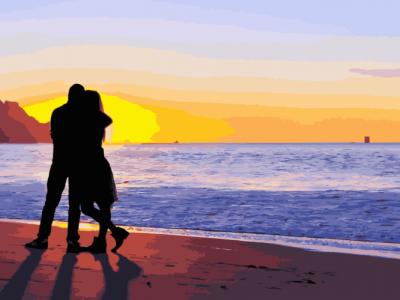 Картины по номерам Влюбленные на побережье