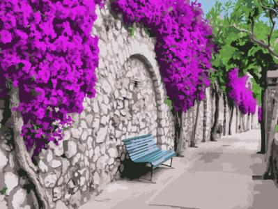 Картины по номерам Бугенвиллия в Афинах