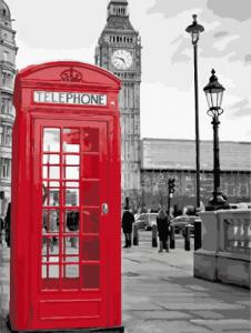 Картины по номерам Звонок из Лондона