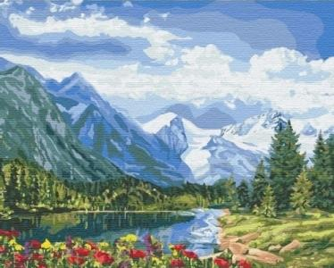 Картины по номерам Альпийское совершенство