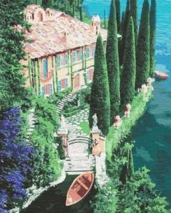 Картины по номерам Дом на побережье
