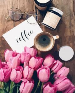 Картины по номерам Тюльпаны к кофе