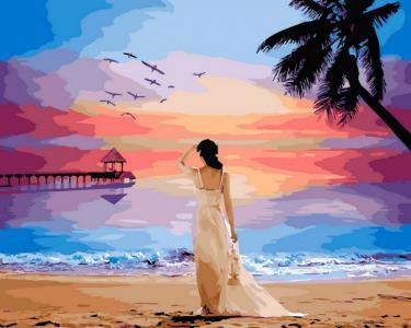 Картины по номерам Тропический рассвет