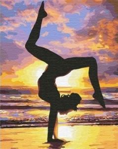Картины по номерам Йога на закате