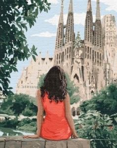 Картины по номерам Путешествуя Барселоной