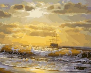 Картины по номерам Море на рассвете
