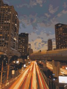 Картины по номерам Ночной Бангкок