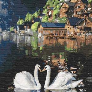 Картины по номерам Волшебные лебеди