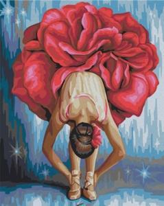 Картины по номерам Цветочная балерина