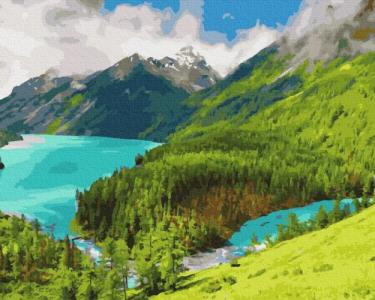 Картины по номерам Утро в горах
