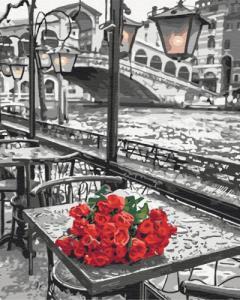 Картины по номерам Розы под дождем